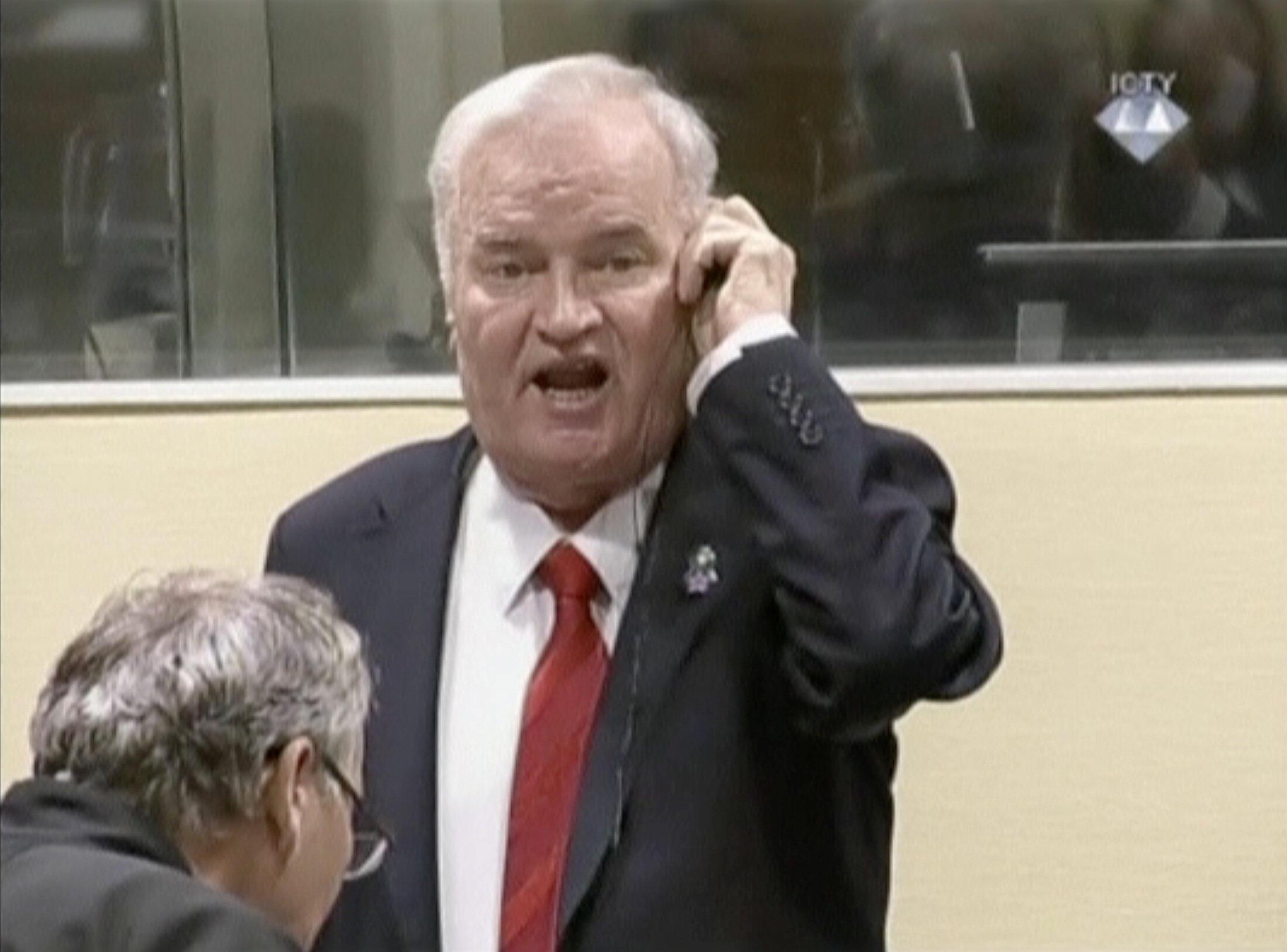 Ratko Mladic at the International Criminal Tribunal for the former Yugoslavia (ICTY)