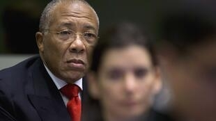 L'ancien président du Liberia, Charles Taylor, au tribunal de La Haye, le 22 janvier 2013.