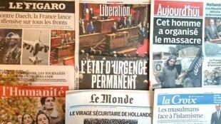 Diários franceses desta terça-feira 17 de Novembro de 2015.