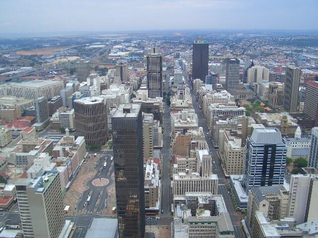 Le centre-ville de Johannesbourg en Afrique du Sud (image d'illustration).