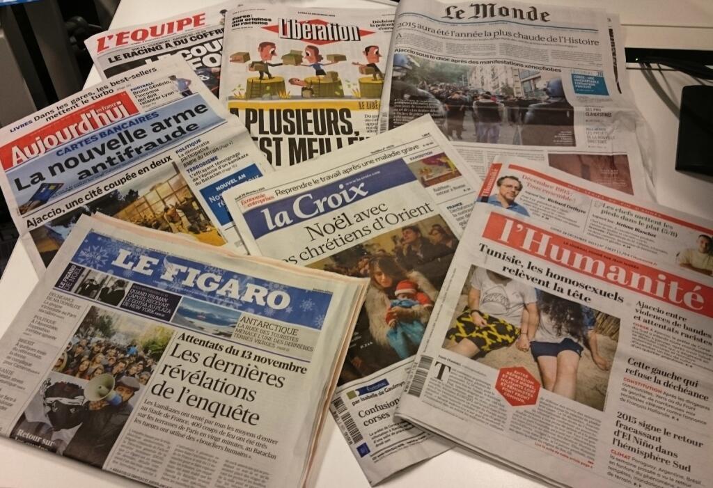Diários franceses 28/12/2015
