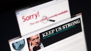 A screenshot shows WikiLeaks blocked four days ago