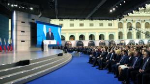 俄罗斯总统普京发表年度国情咨文。