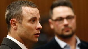 O atleta sul-africano Oscar Pistorius no tribunal de Pretória, no último dia 20 de maio.