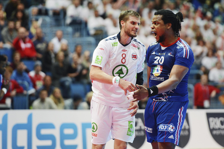 Le handballeur français Cédric Sorhaindo (à droite).