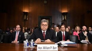 Le secrétaire d'État américain à la Justice William Barr lors de son audition par le Sénat le 1er mai 2019.