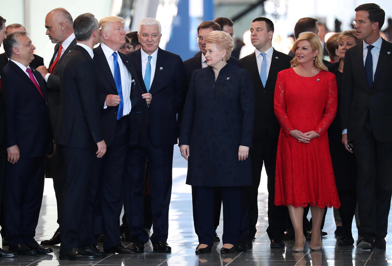Cumbre de la OTAN, este 25 de mayo de 2017 en Bruselas, Bélgica.
