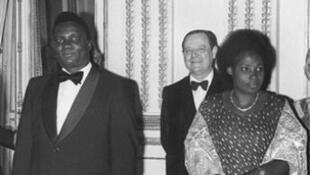 Agathe Habyarimana with her husband Juvenal Habyarimana in 1994
