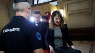 Nathalie Haddadi, à chegada ao Tribunal Correccional de Paris,  28 de Setembro 2017.