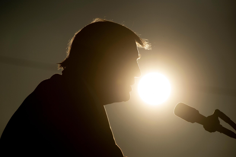 El presidente de Estados Unidos, Donald Trump, durante un mitin en Wisconsin el 27 de octubre de 2020