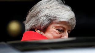 Theresa May quittant le 10, Downing Street, le 15 novembre 2018.