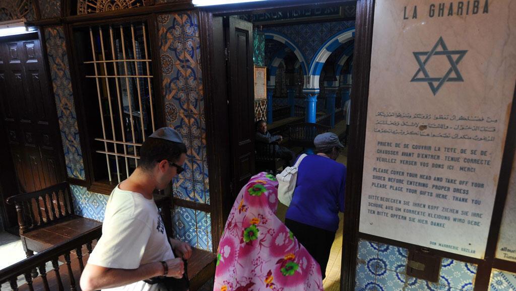 Synagogue de la Ghriba, à Djerba, en Tunisie.