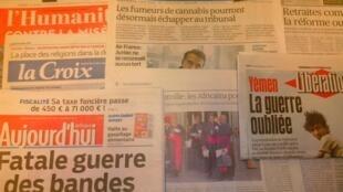 Jornais diários franceses de 16/109/15