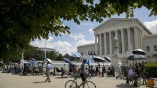 La Cour suprême des Etats-Unis, située à Washington, le 9 juillet 2020.