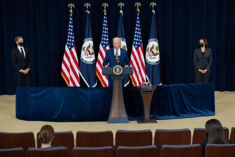 Le président américain Joe Biden à Washington le 4 février 2021.
