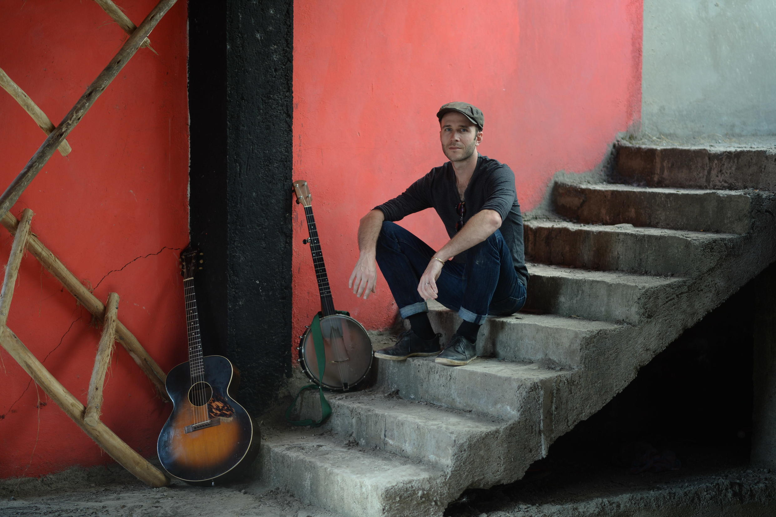 Musician Cory Seznec in Addis Ababa, an inspiration for his latest album Backroad Carnival