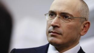 Михаил Ходорковский в Берлине 22/12/2013 (архив)