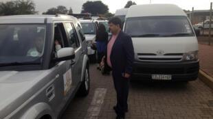 Le puissant homme d'affaires Atul Gupta, ici en 2013 près de Pretoria en Afrique du Sud.