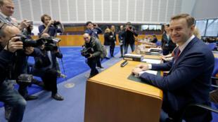 Алексей Навальный в ЕСПЧ в Страсбурге