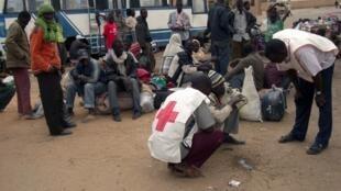 Des personnels de la Croix-Rouge à Agadez au Niger (image d'illustration).