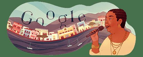 """""""Doodle"""" da Google alusivo aos 78 anos de Cesária Évora"""