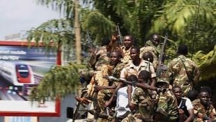 Seleka fighters in Bangui on Thursday
