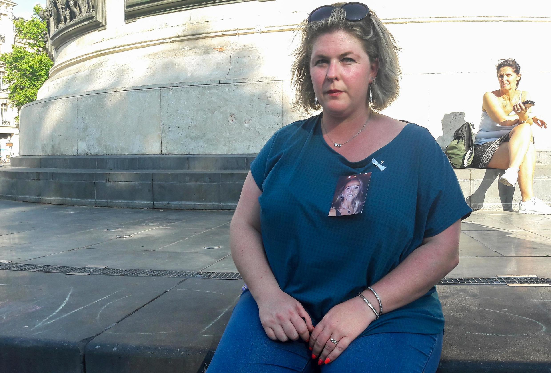 Céline Lolivret, place de la République, le 6 juillet.