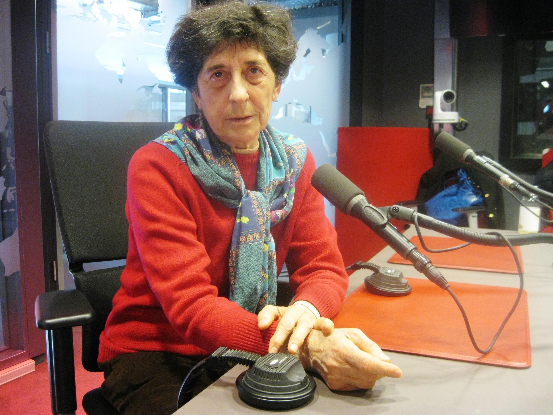 Ester Ferrer en nuestros estudios de Issy-les-Moulineaux, cerca de París.