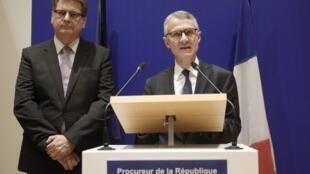 Procurador Antiterrorismo, Jean-Francois Ricard, em declarações à imprensa. 5 de Outubro de 2019.