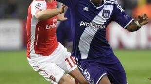 L'Ivoirien Gohi Bi Cyriac sous les couleurs de son ancien club, Anderlecht.