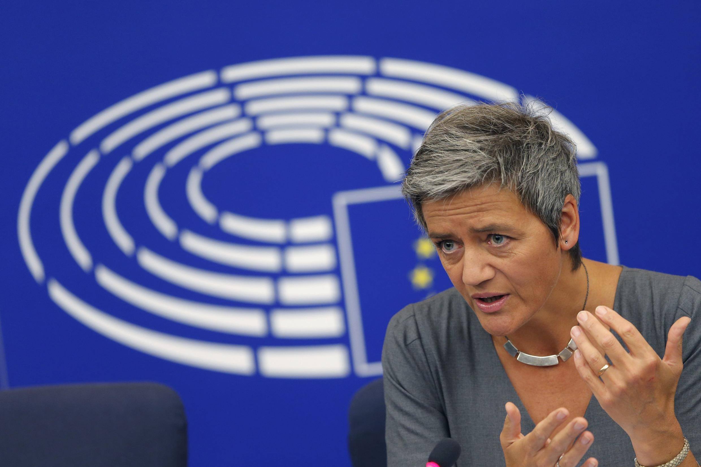 La commissaire en charge de la Concurrence, Margrethe Vestager, est l'une des actrices principales à l'orgiine de cette amende record.