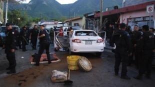 Trois personnes sont mortes lors d'une Fusillade, près de Monterrey, le 27 juillet 2011.