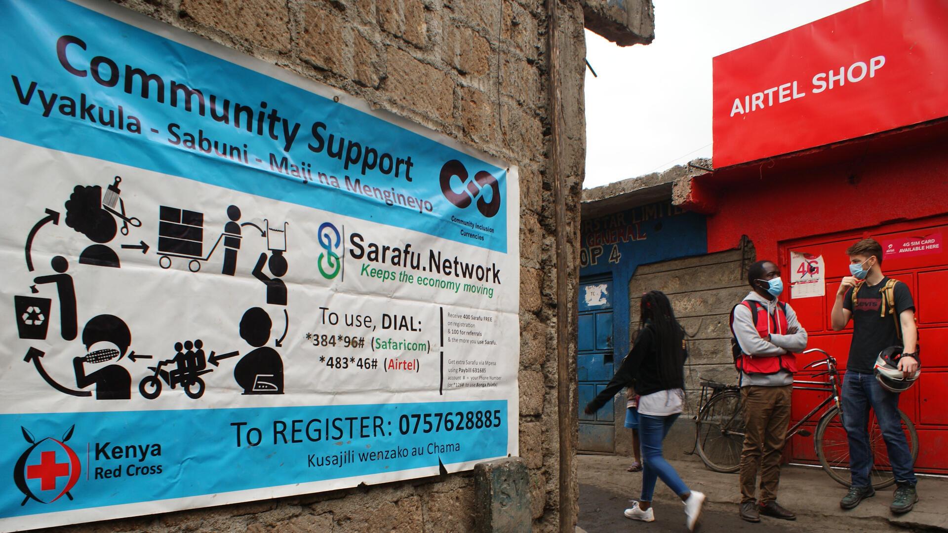 campagne-croix-rouge-cryptomonnaie-sarafu-kenya-Mukuru-Kayiaba-nairobi-juillet-2021