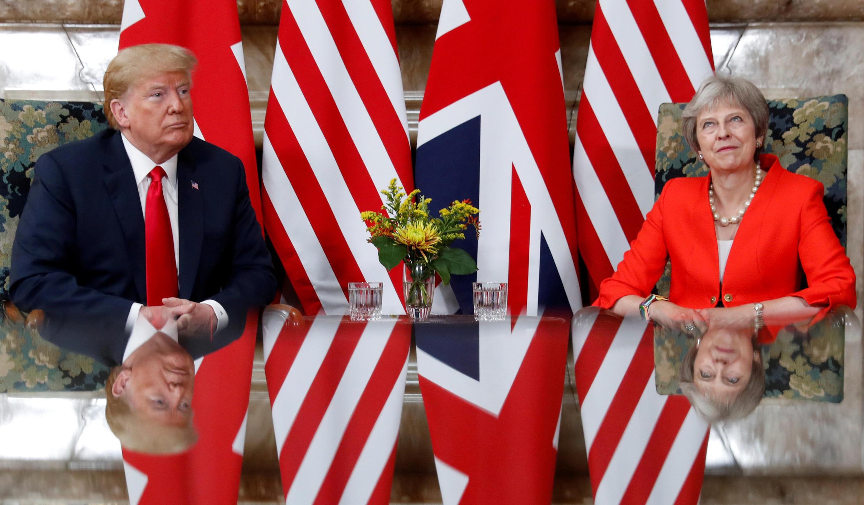Le président américain Donald Trump et la cheffe du gouvernement britannique Theresa May, Londres, le 13 juillet 2018.