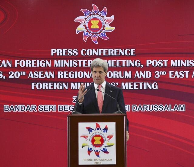 Ngoại trưởng Mỹ, J.Kerry tại cuộc họp ASEAN- Brunei 2013.