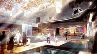 Maquette de Masdar City.