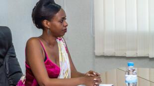L'opposante rwandaise Diane Rwigara, ici dans les locaux de la commission électorale à Kigali, le 20 juin 2017.