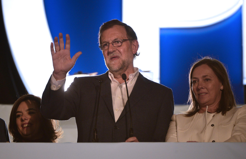 """Voy a intentar formar gobierno y creo que España necesita un gobierno estable"""", afirmó Mariano Rajoy. Foto, 20 de diciembre de 2015."""