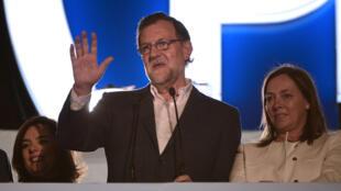 Le leader du Parti populaire, et acuel chef du gouvernement, Mariano Rajoy, au soir des législatives, le 20 décembre 2015.
