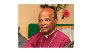 L'évêque anglican Johannes Seoka, président du Conseil sud-africain des Eglises.
