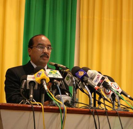 Rais wa Mauritania, Mohamed Abdel Aziz, akiwa mwenyekilti wa Umoja wa Afrika.