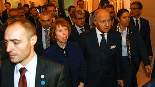ورود لوران فابیوس- وزیر خارجه فرانسه به ژنو