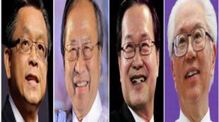 新加坡总统大选4名候选人(从左至右) 陈如斯、陈清木、陈钦亮、陈庆炎 2011年8月