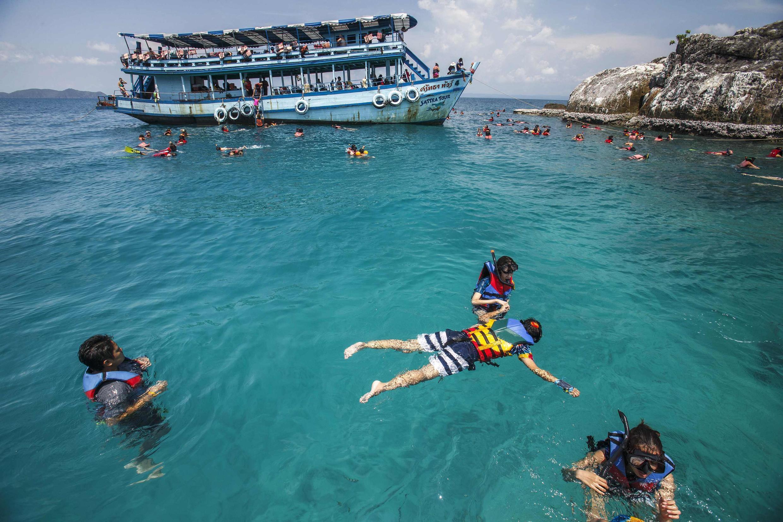 A Tailândia acolhe cerca de 30 milhões de turistas por ano.