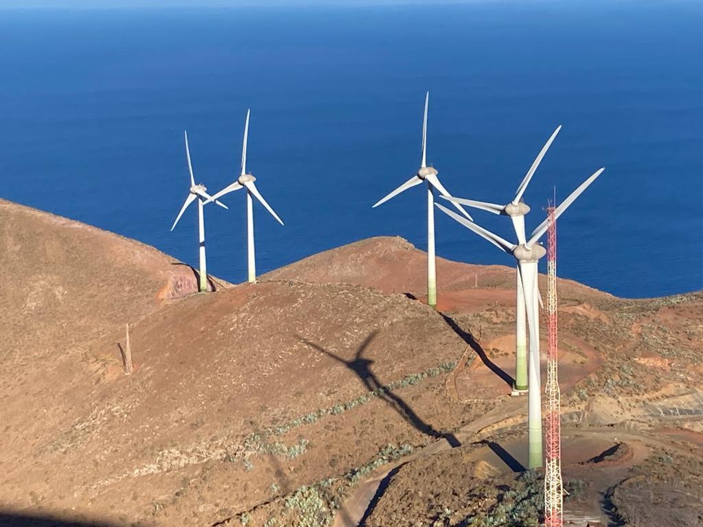 Le parc éolien de Gorona del viento sur El Hierro