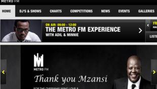 Metro FM's website