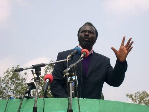 Photo d'archive du pasteur Ntumi, en juin 2008.