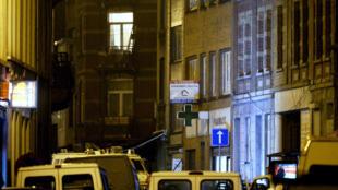 L'immeuble où a êté arrêté Salah Abdeslam le 18 mars 2016, à Molenbeek, une commune de Bruxelles en Belgique.