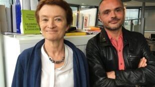 Violaine Houdart-Mérot, professeure à l'université de Cergy-Pontoise et Romain Vignest, président de l'association des professeurs de français se penchent sur la littérature étudiée par les futurs bacheliers.