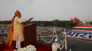 Comme le veut la tradition, le Premier ministre indien s'est adressé à la nation, ce 15 août 2017.